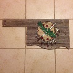 Oklahoma sign with sheild by MandyJsCrafts on Etsy