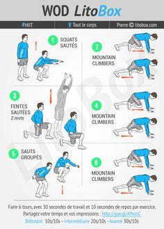 Séance de HIIT au poids du corps et sans matériel pour brûler du gras et faire de la cardio en 24 minutes. Cet entraînement va faire travailler les fesses