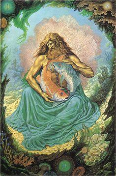 Pisces Zodiac Sign Artwork, Artist: Johfra Bosschart | #pisces #zodiac #astrology. venus retrograde in8th house; better once moves direct