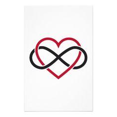 infinity symbol | Infinity heart, never ending love stationery paper | Zazzle.co.uk