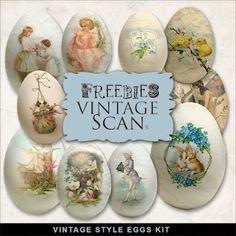 Vintage style eggs kit from farfarhill