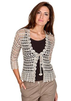Handmade elegant crochet fashion long cardigan, handmade crochet ...