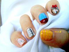 Diseño de uñas inspirado en El Mago de Oz.  The Wizard of Oz inspired nail art design.