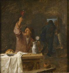 Adriaen Brouwer, Drinkende boer, 1630-1638. Antwerpen, Rubenshuis.