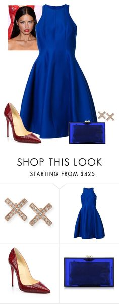 2016/1000 by dimceandovski on Polyvore featuring Halston Heritage, Christian Louboutin, Charlotte Olympia and EF Collection