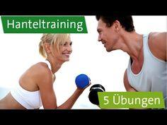 Hanteltraining zu Hause - 5 Übungen: Bizeps, Trizeps, Nacken, Schulter, Rücken - YouTube