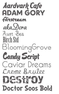 Little Pink Strawberries: Fonts I love Google Font Pairings, Fancy Fonts, Google Fonts, Strawberries, Frames, Typography, Rest, Cricut, Printables