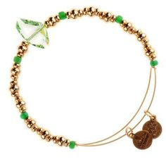 Alex-and-Ani-FORGET-ME-NOT-CRYSTAL-Charm-Bangle-bracelet-gold