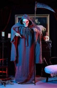 6 ft. Animated Grim Reaper with Sound and Light Effects, Halloween Decoration Ideas