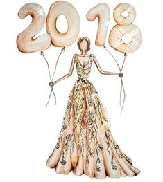 NEW YEARS • SERIES @cristinag_elena  #NYE #2018FashionIllustrations #2018 #HappyNewYear #FashionIllustrations  Be Inspirational ❥ Mz. Manerz: Being well dressed is a beautiful form of confidence, happiness & politeness