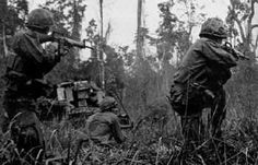 Unit Name: BIG RED ONE  1st Brigade Infantrymen Contact NVA North of Phu Bai
