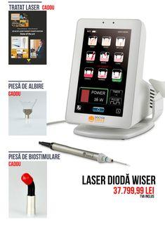 La fiecare comanda de Laser dioda Wiser primesti GRATUIT: Piesa BIOSTIMULARE, Piesa ALBIRE si Tratat laser Atlas of Laser Therapy - Alberico Benedicenti, Stefano Benedicenti