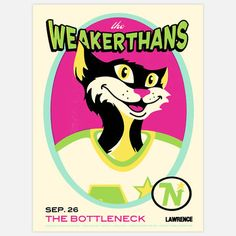 The Weakerthans Poster by A. Micah Smith