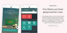 Ihr Brand auf einer gesponserten Einkaufsliste in der App bring die Bring! User mit ihren Produkte in Verbindung.