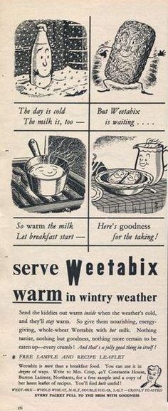Check out this old advert for hot Weetabix!