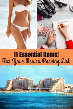 Vacations in Mexico in the Riviera Maya, Cancun, Playa Del Carmen, Puerto Vallarta and Cabo San Lucas are the best! Make sure you know the simple things you need to bring to your all-inclusive resort so your Mexican vacation is the best ever! Mexico Vacation Outfits, Outfits For Mexico, Cancun Vacation, Summer Vacations, Packing Tips For Vacation, Travel Packing, Packing Lists, Cruise Tips, Travel Hacks