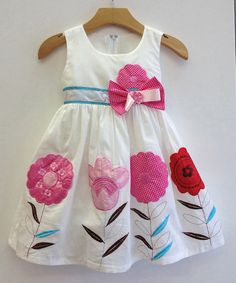 White Flower Patch Dress - Toddler & Girls by Here Come the Girls on #zulilyUK today!