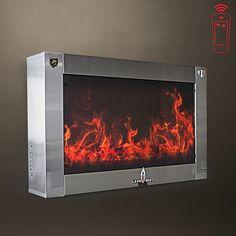 "Modern Flames Slim Fire 40"" Electric Fireplace no heat"