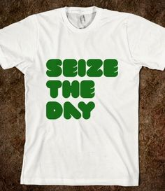 Newsies - Seize The Day T-shirt from skreened.com. I have friends who would wear this everyday.