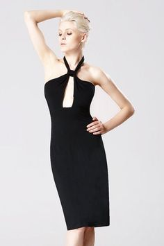 Stylish Women's Backless Black PartyDress - #PesciModa - #Lady #Fashion #Sexy #Sleeveless #Halter Neck Keyhole Straps #Bodycon #Dress. Unique #style, make you more #beautiful and #elegant. #Sale #NewArrivals #OnlineShopping #FreeShipping #Cute #LongDress