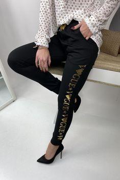 Čierne dámske tepláky vogue Vogue, Pants, Fashion, Trouser Pants, Moda, Fashion Styles, Women's Pants, Women Pants, Fashion Illustrations