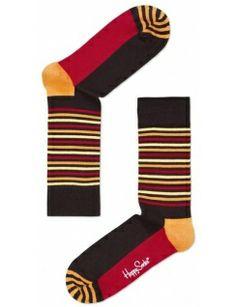 Happy Socks Brown/Orange Stripes