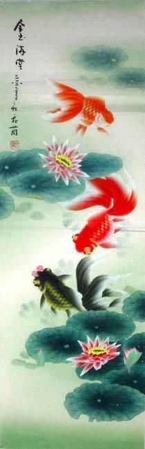 Chinese Painting: Fish - Chinese Painting CNAG234862 - Artisoo.com