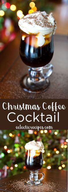 Eclectic Recipes How to Make a Christmas Coffee Cocktail for the Holidays - Christmas Food, Desserts, and Drinks - Coffee Cocktails, Cocktail Drinks, Cocktail Recipes, Alcoholic Drinks, Beverages, Vodka Cocktails, Dinner Recipes, Cranberry Cocktail, Espresso Drinks