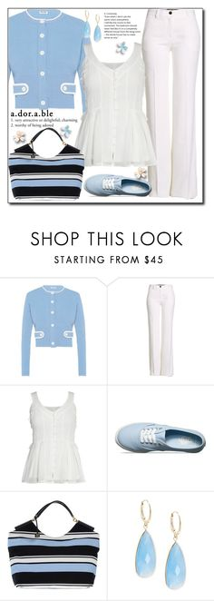 """Blue Lady"" by lemon-limelight ❤ liked on Polyvore featuring Miu Miu, Roberto Cavalli, Vans, Dolce&Gabbana and Saks Fifth Avenue"