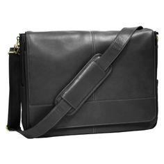 Royce Leather Milano Cowhide Messenger Bag Milano Top Grain Leather 687-BLACK-3