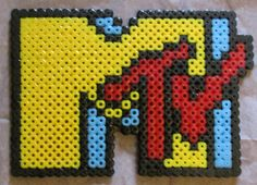 MTV logo tv hama perler beads by Keely Jade