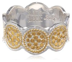 Anna Beck Designs %22Gili%22 18k Gold-Plated Wire Rimmed Disk Ring