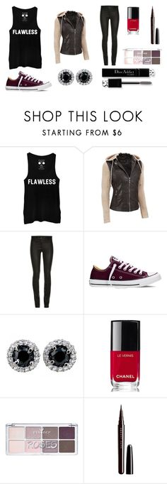"""""""Untitled #3"""" by swimmingmaya12 on Polyvore featuring Black Rivet, Converse, Chanel, Christian Dior and Marc Jacobs"""