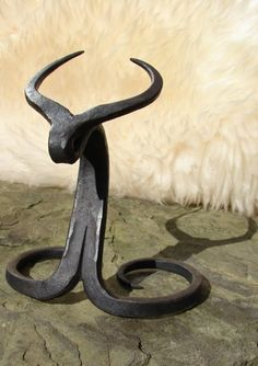 Viking drinking horn Iron metal hand-forged stand for -300-700 ml horn