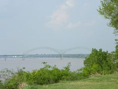 Memphis Greenway with I-40 bridge in the background