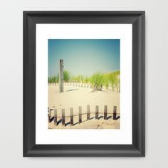 Ocean beach dunes Framed Art Print by Wood-n-Images - $36.00