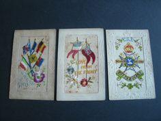 W.W.1 Silk postcards