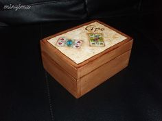 """Box for hungarian cards - """"Dad"""" Decorative Boxes, Home Decor, Boxes, Decoration Home, Room Decor, Home Interior Design, Decorative Storage Boxes, Home Decoration, Interior Design"""