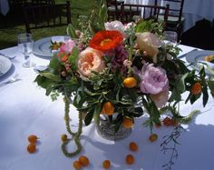 A Fall Inspired Wedding Centerpiece, Garden on the Square #wedding #savannahgawedding