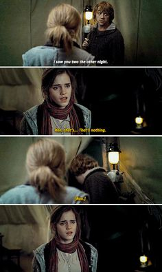 Ron and Hermone - And you? Are you coming or you staying? Harry Potter Pictures, Harry Potter Jokes, Harry Potter Cast, Harry Potter World, Harry Hermione Ron, Harry Potter Wallpaper, Fandoms, Gifs, Hogwarts