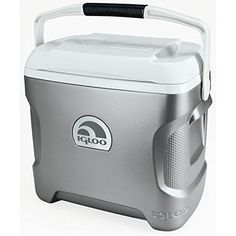 The igloo 12V portable electric cooler - ideal for vacations, road trips, RV's, boats and more. Cools without ice - more room for food and drinks cools down 36 degree below surrounding temperature. Quiet brushless motor and convection cooling. Fan circulates cold air ergonomic design. Curved back comfortably hugs your side while carrying swing-up bale handle with comfort grip for easy carrying.