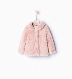 Image 1 of Three quarter length fur coat from Zara
