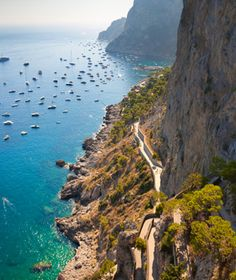 Capri, Italy.   South of Naples, it is the Mediterranean at it's most fabulous!