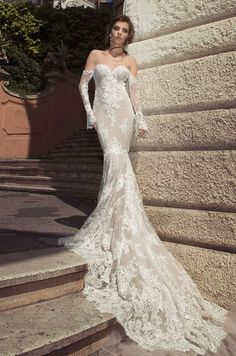 """The stunning new Spring Summer 2017 Bridal Collection was shot in the charming streets of Italy's capital, Rome. The gowns are inspired by the antique history of the """"Eternal City"""" and reflect the designer's love for la Dolce Vitiate main influences of the new collection were the culture and archite"""