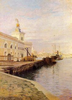 ~ Julius LeBlanc Stewart ~ American artist, 1855-1919: View Of Venice