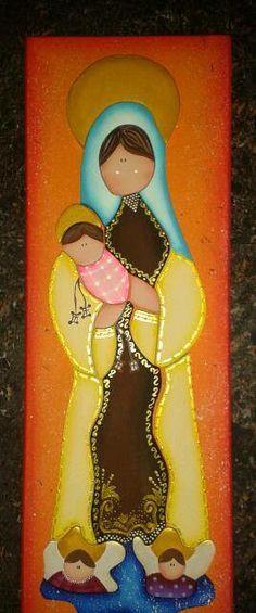 Virgen del carmen mdf country