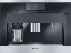 Miele CVA6805X 24 Inch Whole Bean Built-In Plumbed Coffee System with M Touch Controls, Dual Dispensing Spouts, 10 User Profiles, Automatic Rinse/Cleaning Program and Integrated LED Lighting