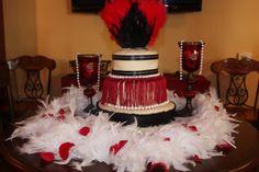 Great Gatsby themed bithday cake    lynn's birthday at the wine artist