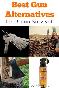 Best Gun Alternatives for Urban Survival. As a member of the prepper and survivalist community, I know how popular guns are and how important they are as part of your survival plan.  Many people are taking the step of stockpiling guns and ammo for when SHTF. But I'll also warn you against relying so heavily on your gun. While a firearm might be a great weapon, it isn't perfect.