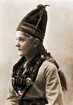 Fischer girl costume. Lofoten Islands Norway